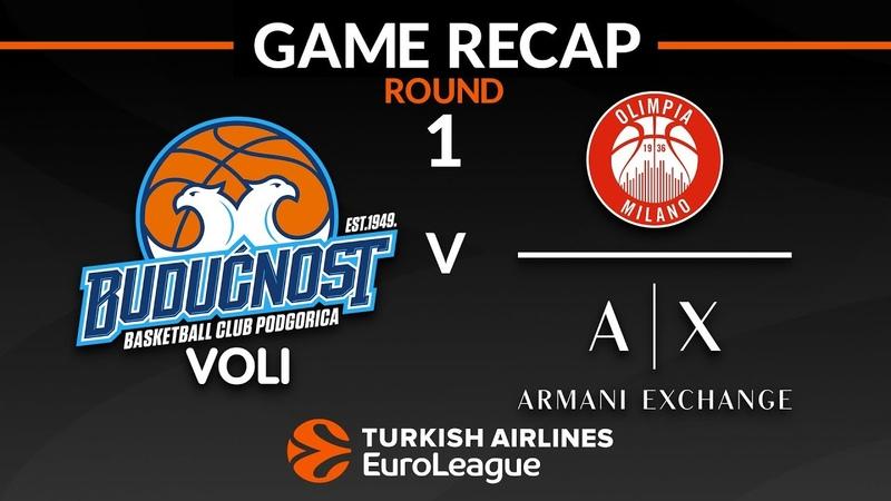 Highlights: Buducnost VOLI Podgorica - AX Armani Exchange Olimpia Milan
