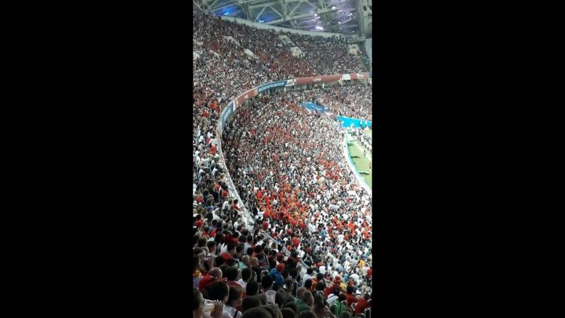 Испания Португалия Моменты игры волна на стадионе