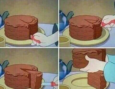 Как правильно есть торт?
