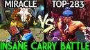 Miracle Juggernaut VS Monster Anti Mage Meta 7 20 Insane Carry Battle Dota 2