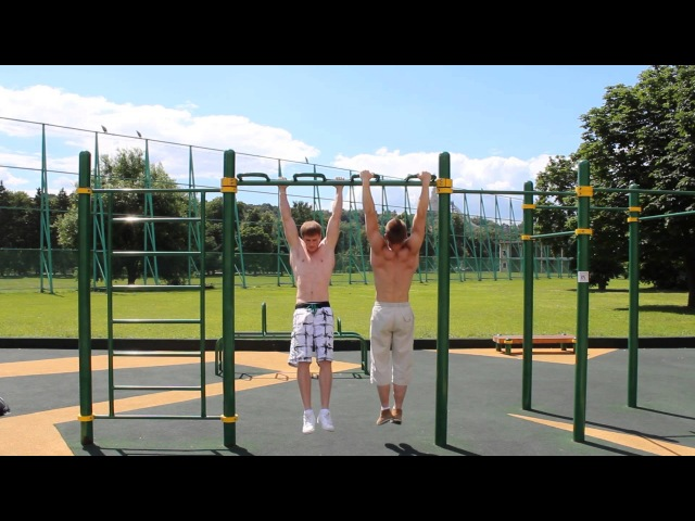 BAR-BARIC STRAIGHT BAR DIPS LADDER WITHOUT LEAVING THE BAR