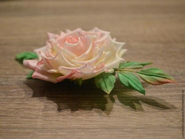 Роза из шелка (9 фото) - картинка
