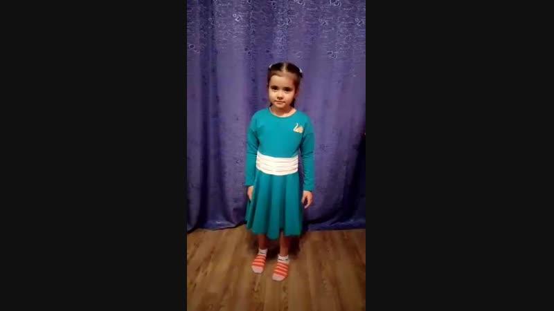 Лиза в платье Гуси-Лебеди (клеш)