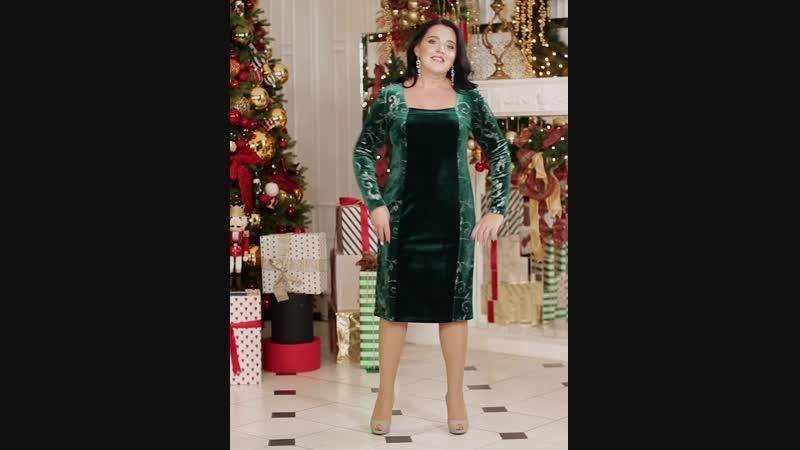 Платье «ИВЕТТА» Цвет зелёный Размеры 46-60 (Интернет-магазин СонЛайн)