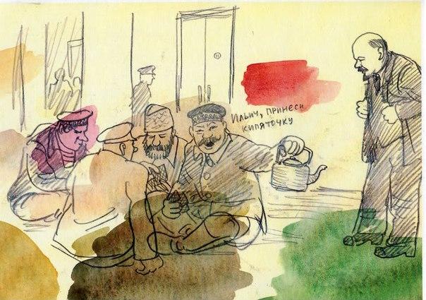Зарисовки Юрия Погорелова,