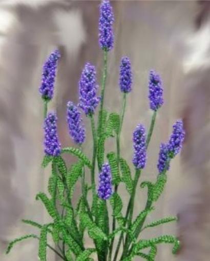 Простейший цветок из бисера,