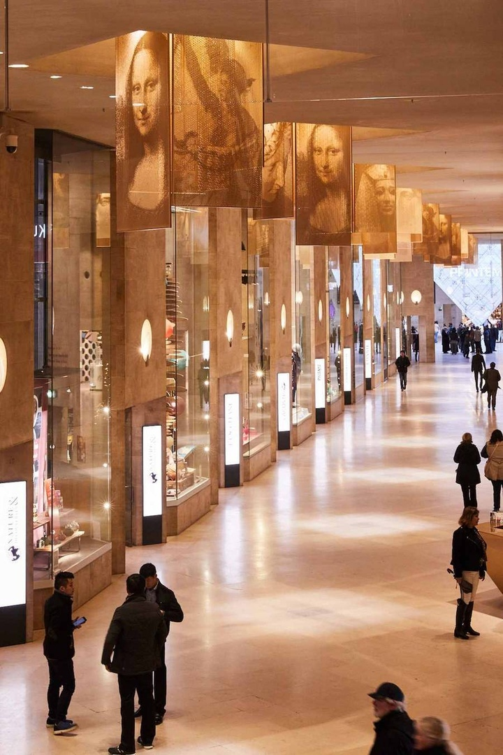 Paris Louvre Museum Shopping Mall by Wilmotte