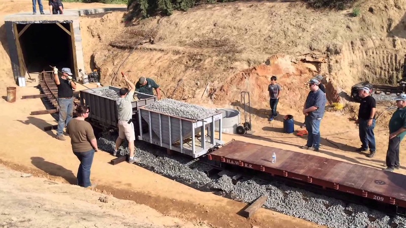 GSP P 7 ballast train on the Hillcrest Wahtoke Railroad