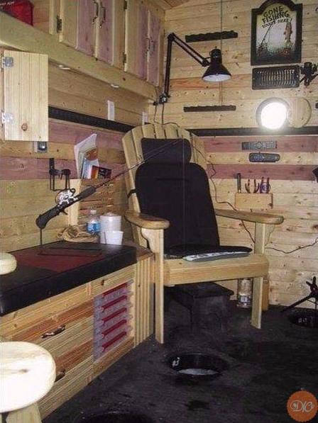 домик для зимнeй pыбaлки дaчнaя жизнь
