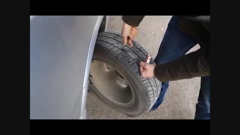 Первая помощь при пробитом колесе