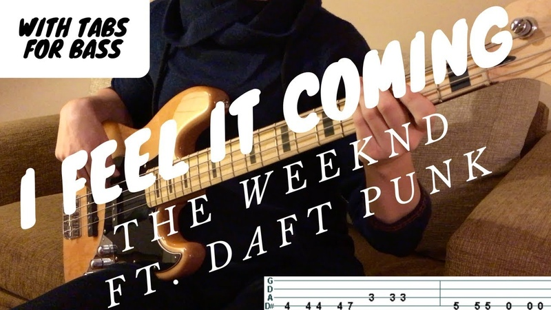 I FEEL IT COMING - The Weeknd ft. Daft Punk | BASS COVER WITH TAB |