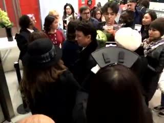 Big reception at the bbc for kazak pop star dimash kudaibergen from kazak and chinese fans just now!