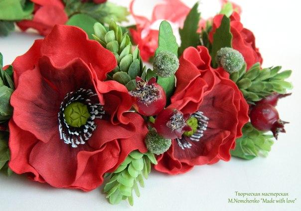 Сделать цветы из фоамирана 5