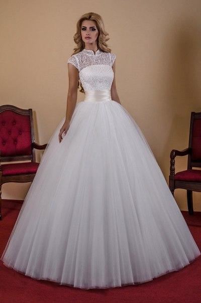 Пышное свадебное платье цена