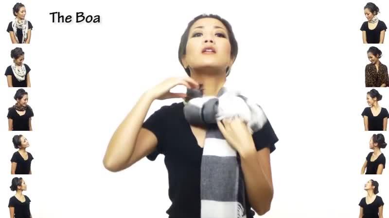 25 способов оригинально и изящно завязать шарф