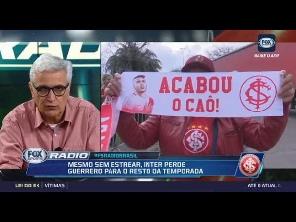 Inter pode ser campeão e caso de Guerrero punido ate 2019 Flamengo pode estar por traz disso