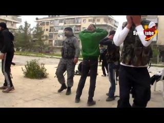 [18+] Война в Сирии - Снайпер точным выстрелом снял боевика ССА