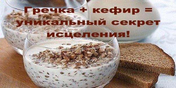 Гречка + кефир = уникальный секрет исцеления! Рецепт под фото.  Кефир и гречневая мука снизят уровень сахара в крови, очистят кишечник и сосуды, нормализуют обмен веществ и работу поджелудочной железы. Воистину целебное средство!