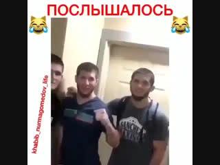 Хабиб Нурмагомедов и Ислам Махачев и Зубайра  Тухугов и Абдул-Азиз Вахабов. Передают Салам
