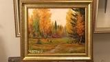 Осенний лес. 2 часть. Живопись маслом в два сеанса. Autumn in the forest. Part 2