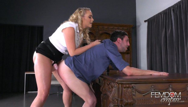 Femdom & Strapon - Office Blackmail Fuck