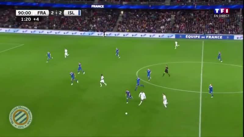 France vs Sigurdsson foul on Mbappe