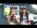 180812 Певрый бросок и отбивание мяча Джису и Сучжон за Doosan Bears