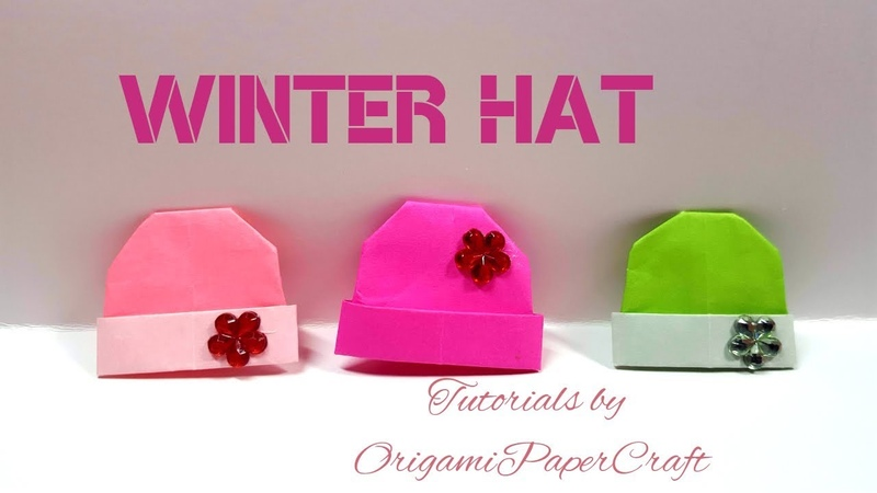 Origami Knitted Hat / Winter Hat/ Snow cap 🏔️ Tutorials by OrigamiPaperCraft