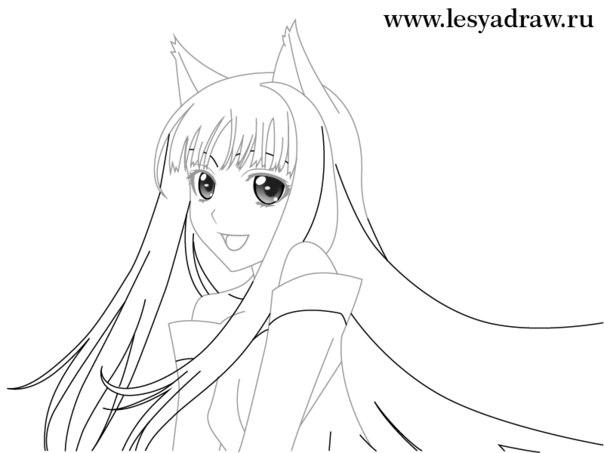 Рисуем на глаз аниме девочку