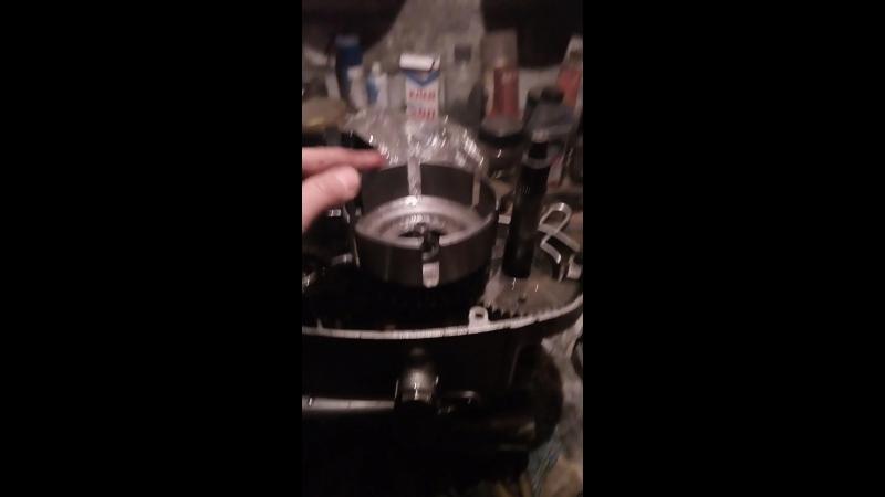Установка корзины сцепления от мотоболки с двурядной цепью..