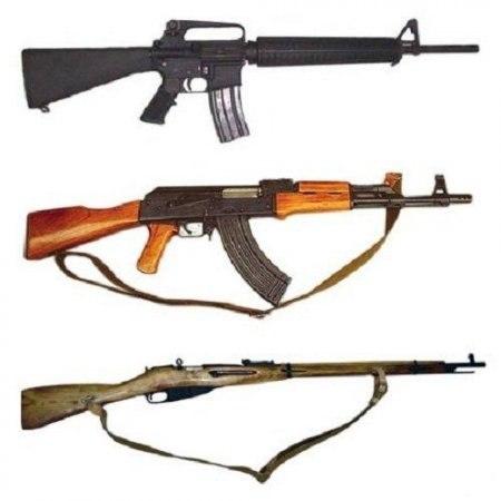 АК47, M16, Трехлинейка...вся правда