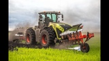 CLAAS XERION 5000 and GREGOIRE BESSON 16 furrow