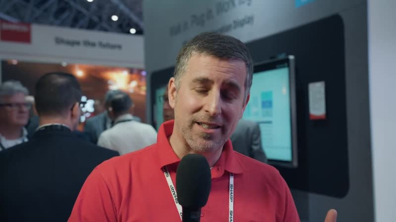 ISE 2019- Sharp presents the Windows collaboration display