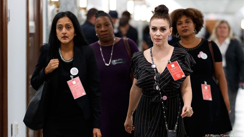 Alyssa Milano at Kavanaugh hearing Women are standing together now