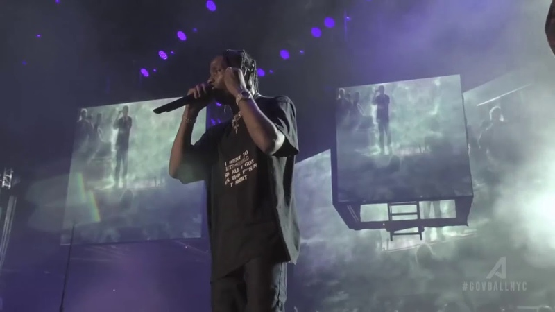 Sheck Wes Live Performance With Travis Scott Governor's Ball 2018