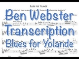 Ben Webster Blues for Yolande Transcription
