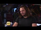 Интервью для Entertainment Tonight о съёмках фильма «Мстители: Война бесконечности» (русские субтитры)