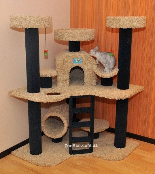 Мягкий угловой домик для кошки своими руками