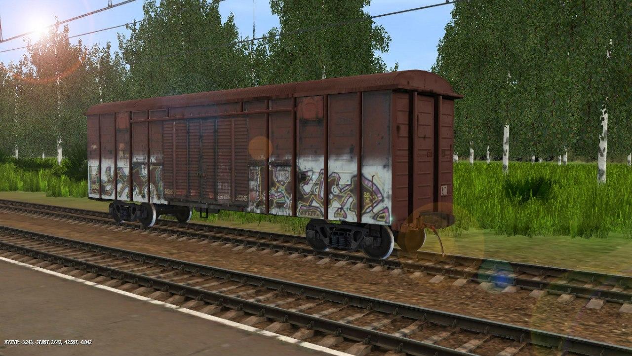 TRS: Крытый вагон в граффити № 24426439