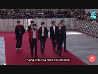 181128 bts - red carpet  @ 2018 asian artist award