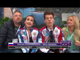 Елизавета Худайбердиева / Никита Назаров - ПТ, ЮГП Bratislava 2018