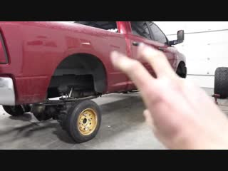 I put tiny car wheels on my lifted truck