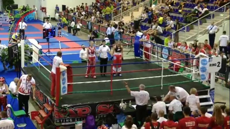 Победа в полуфинале над спортсменкой из Польши.