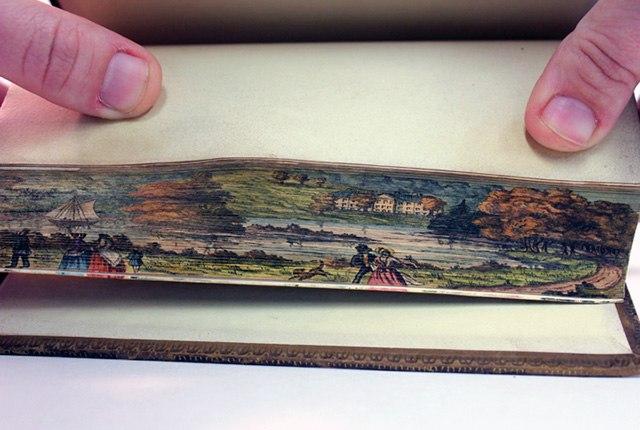 Обнаружили спрятанные рисунки на страницах книг 19 века