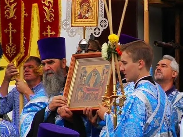 Престольный праздник Свято-Успенского собора отметили прихожане речицкого благочиния