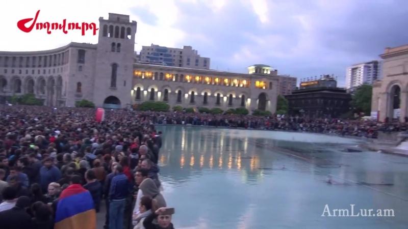 Հարյուր հազարավոր ցուցարարներ պաշարել են Հանրապետության հրապարակը