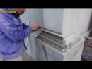 Amazing Construction Rendering Sand And Cement To The Column Foot - Build House