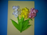 Мастерим цветы из бумаги. Делаем поздравительную открытку с гиацинтами