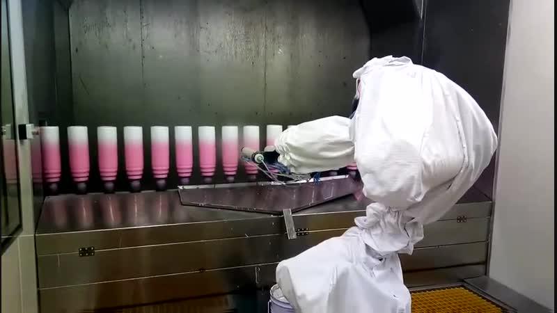 Sun Glory bottle flask automatic powder coating