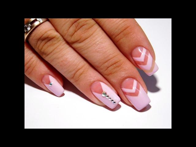 Дизайн ногтей. Ровные линии